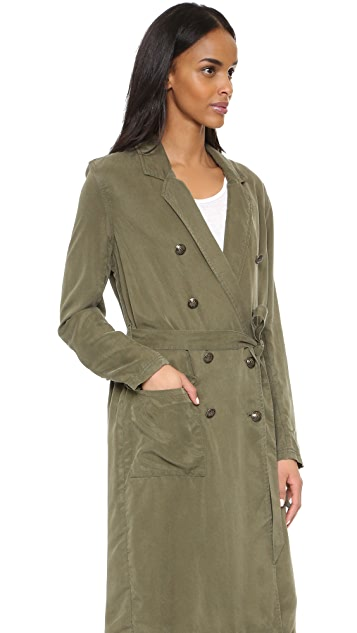 Free People Sensual Military Duster