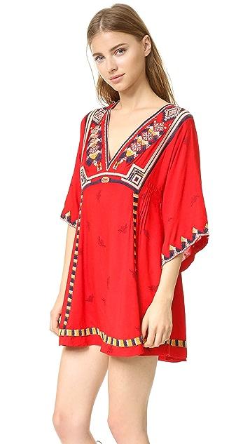 Free People Embroidered Tulum Mini Dress