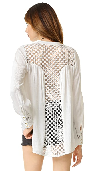Free People The Best Button Down - Ivory