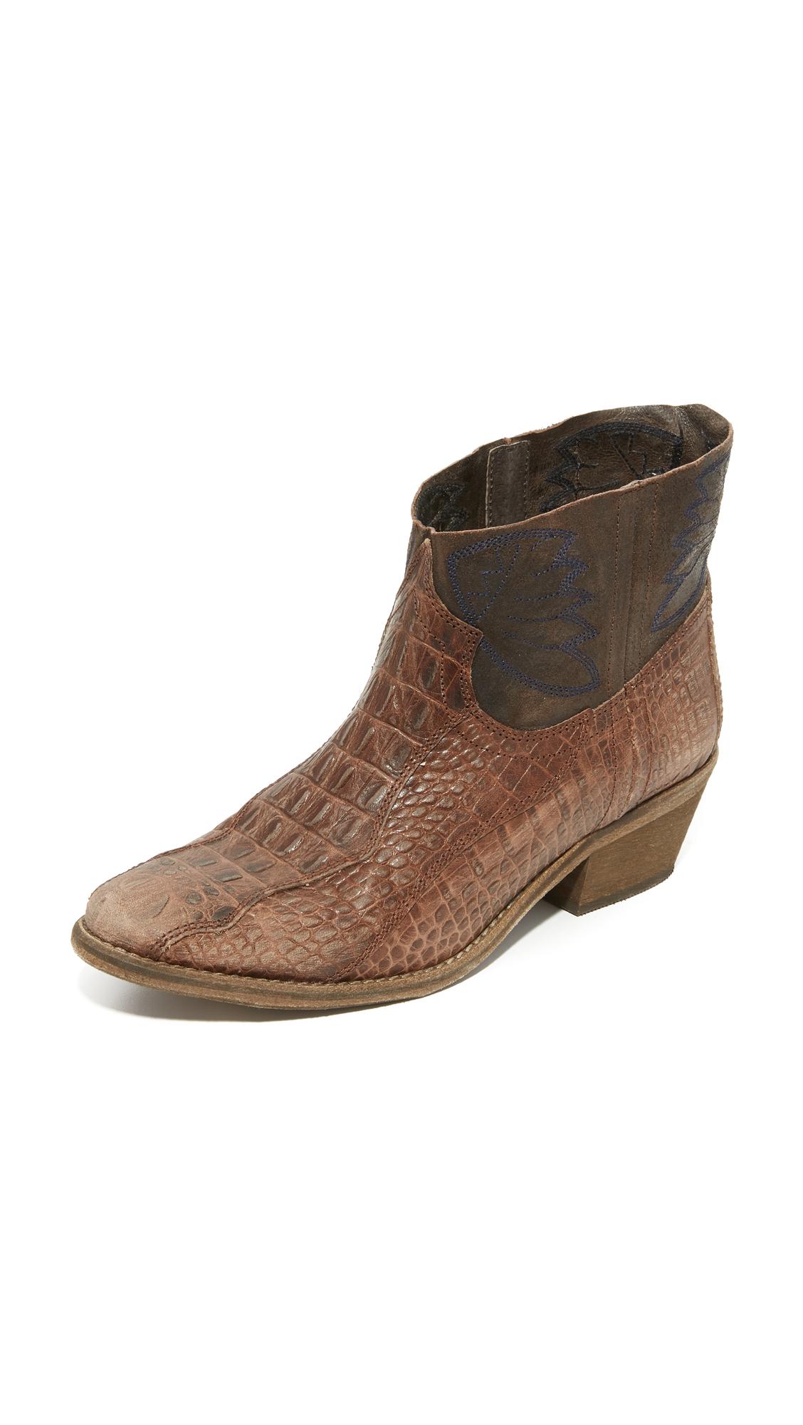 Free People Dorado Ankle Booties - Brown Combo