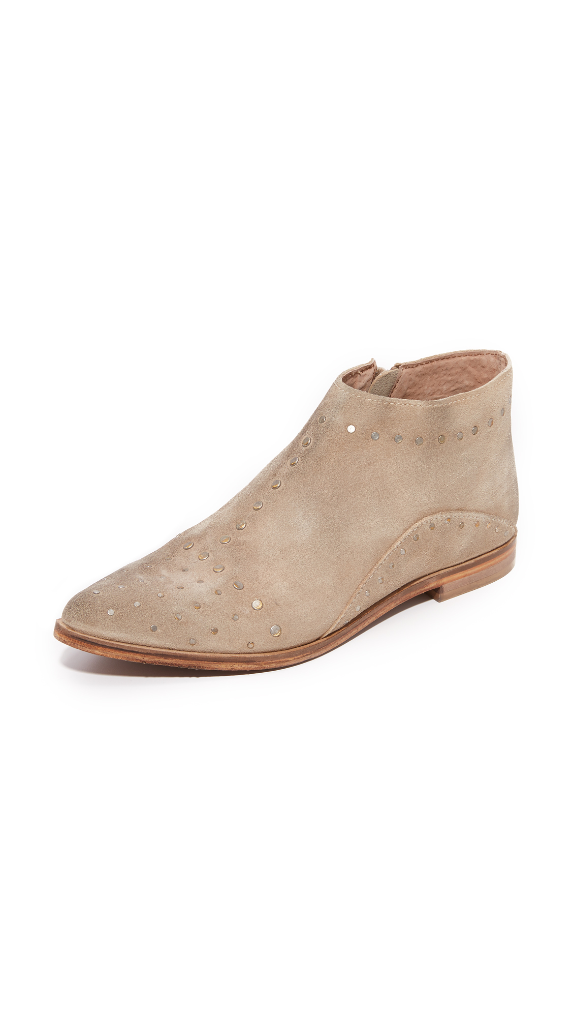 Free People Aquarian Studded Ankle Booties - Taupe