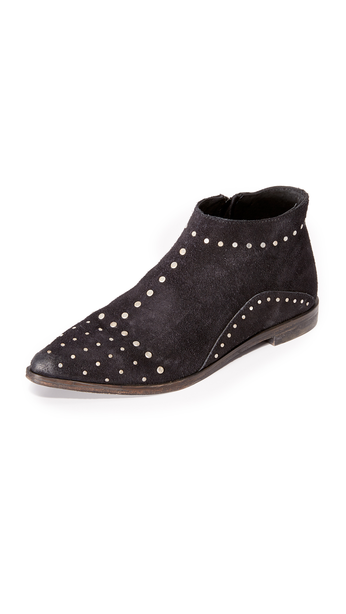 Free People Aquarian Studded Ankle Booties - Black