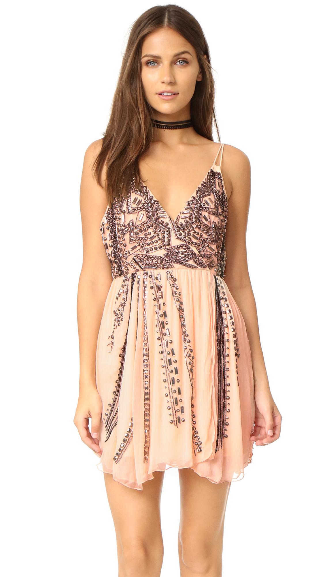 8433e0d2d962e Free People Cassiopeia Embellished Mini Party Dress