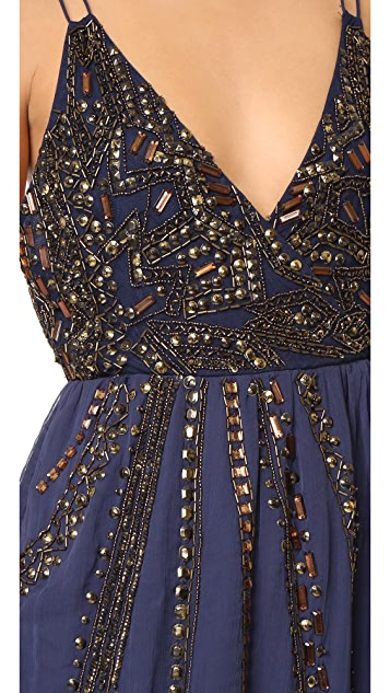 Free People Cassiopeia Embellished Mini Party Dress