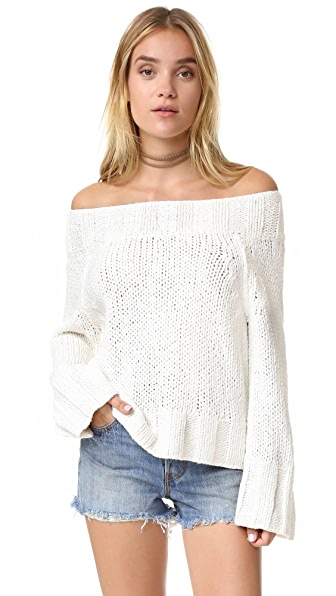 Free People Beachy Slouchy Pullover Sweater - Ivory