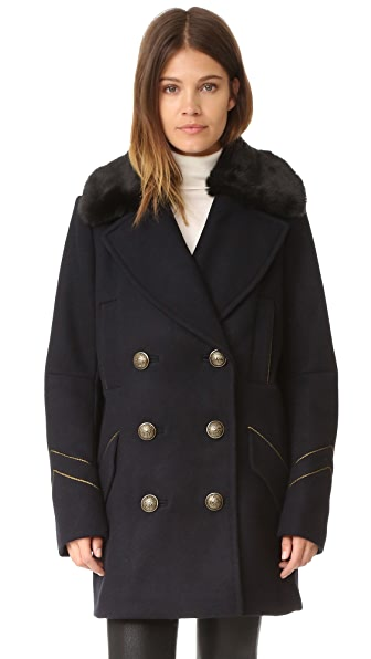 Free People Sedgwick Pea Coat