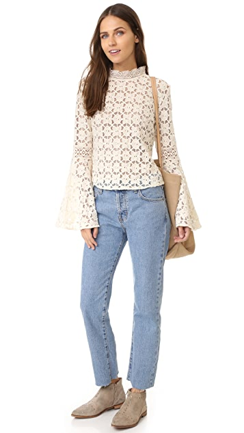 Free People Kiss & Bell Lace Top