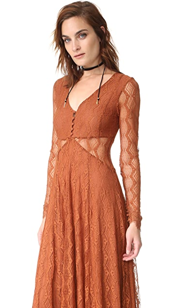 Free People Guinevere Lace Maxi Dress