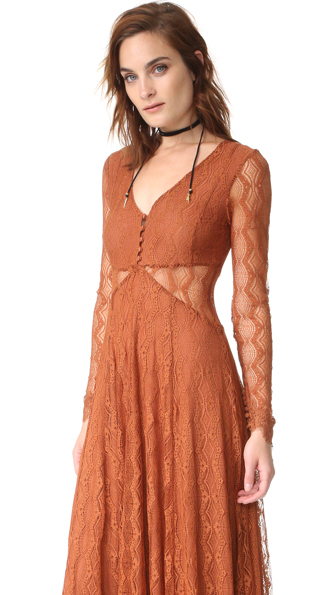 Free People Guinevere Lace Maxi Dress | SHOPBOP