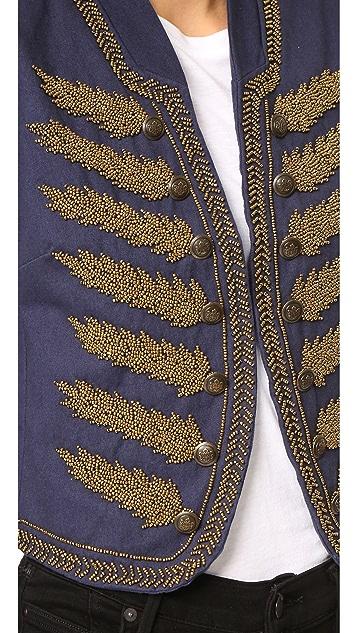 Free People Embellished Band Jacket