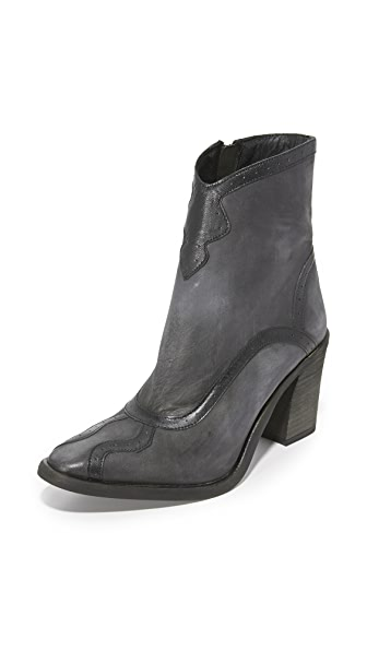 Free People Winding Road Booties - Washed Black