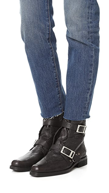 Free People Outsiders Moto Booties
