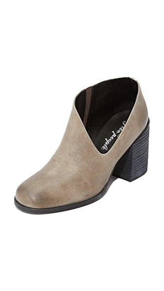 Free People Terrah Heel Booties - Grey