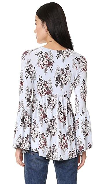 Free People Speak Easy Printed Top