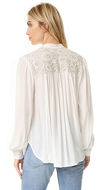 Free People Canyon Rose Button Down Shirt