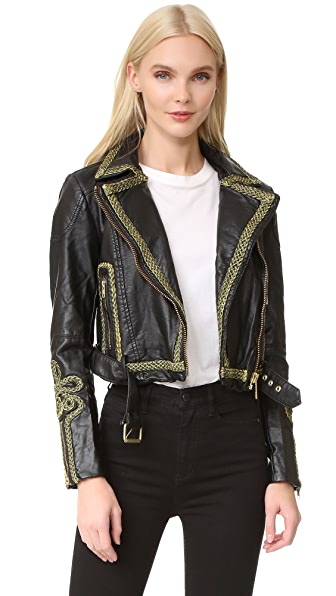Free People Bang Bang Moto Jacket - Black