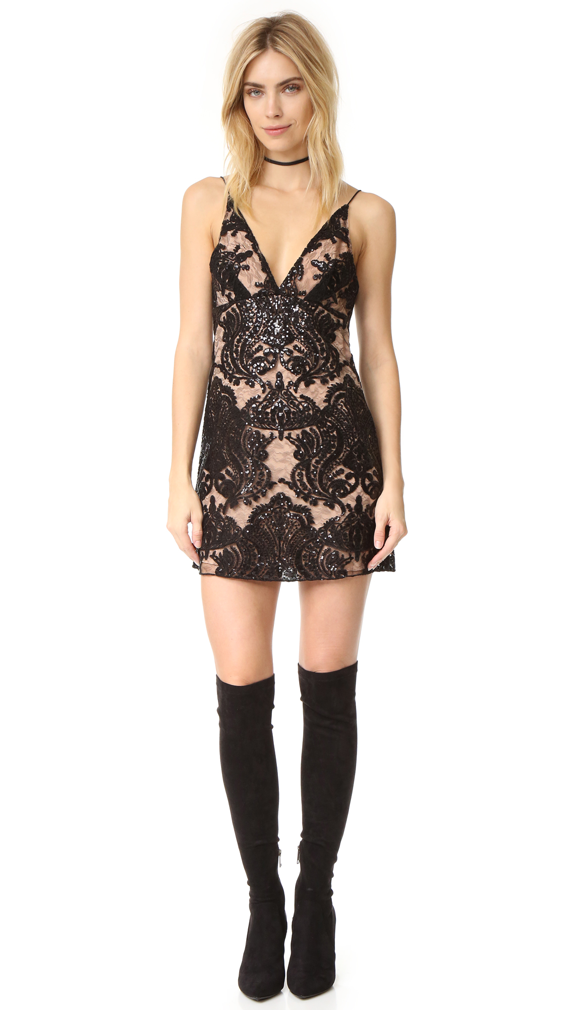 ab16240a Free People Night Shimmer Mini Dress | SHOPBOP