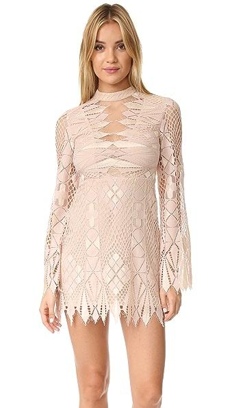 Free People Deco Lace Mini Dress