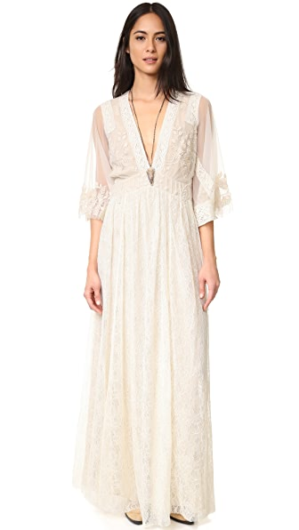 Free People Eclair Embroidered Maxi Dress