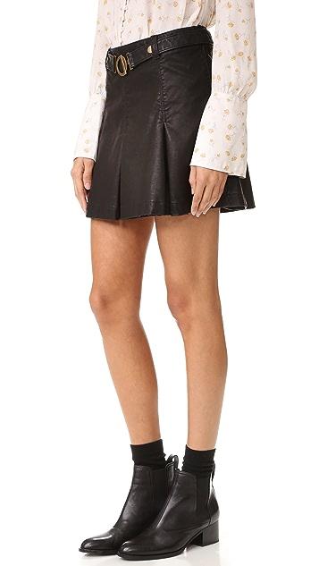 Free People Vegan Leather But I Love It Skirt