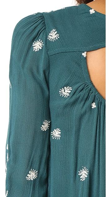 Free People Sweet Tennessee Embroidered Mini Dress
