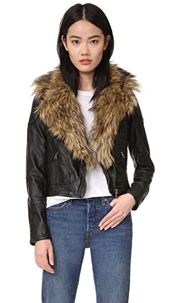 Free People Vegan Moto Jacket