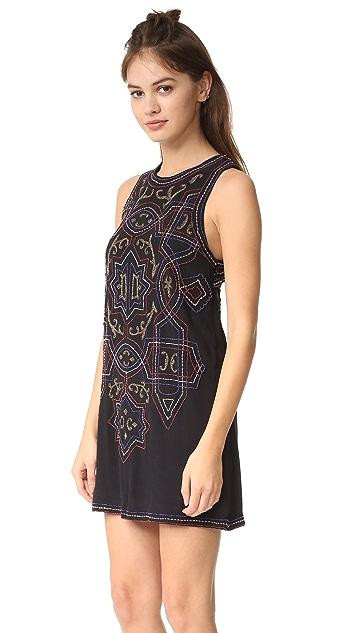 Free People Mandala Shift Mini Dress