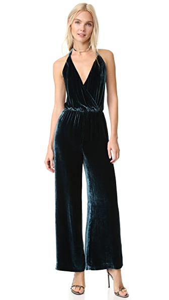 Free People Rumpled Velvet Jumpsuit