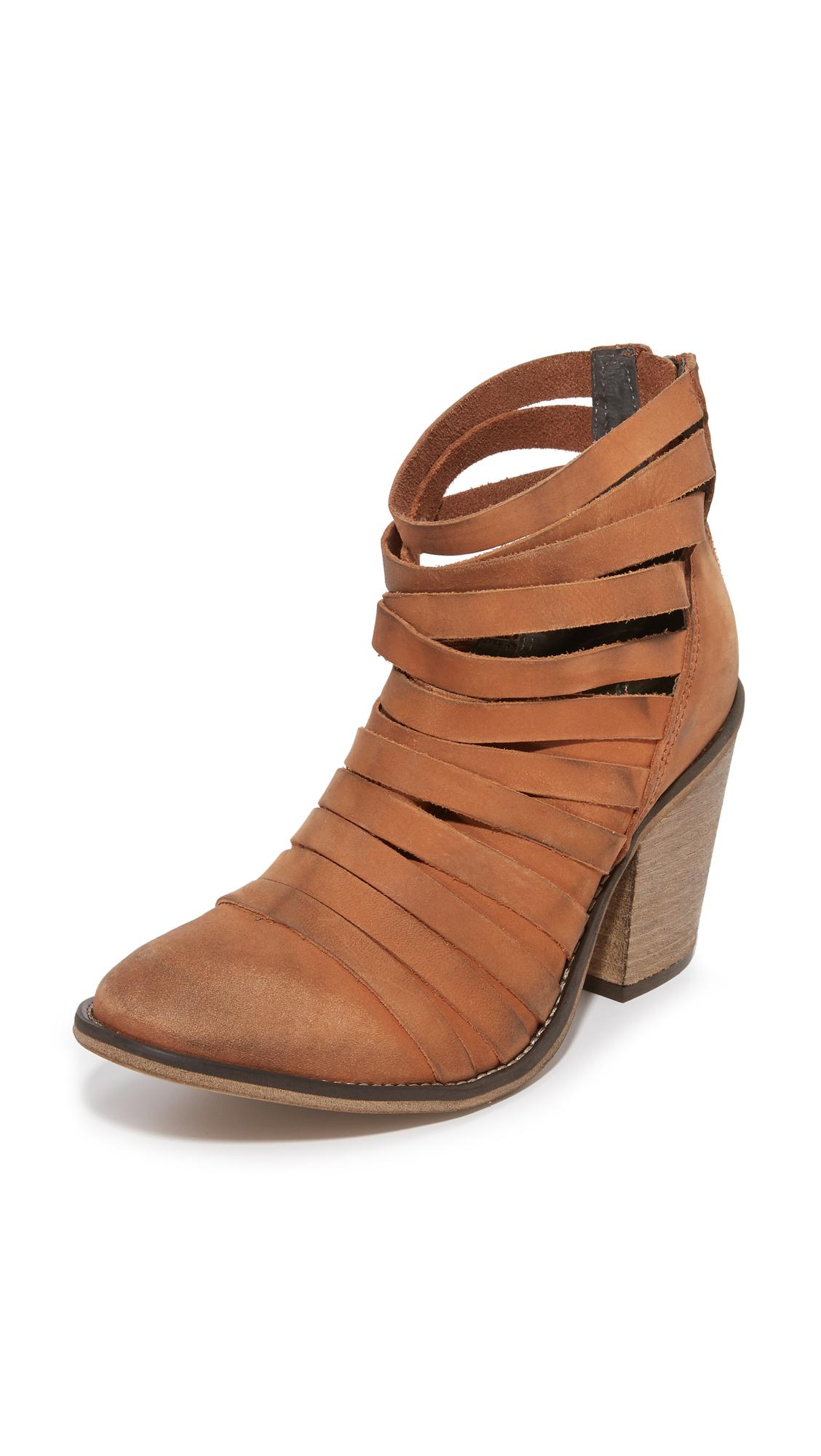 Free People Hybrid Heel Booties - Terracotta