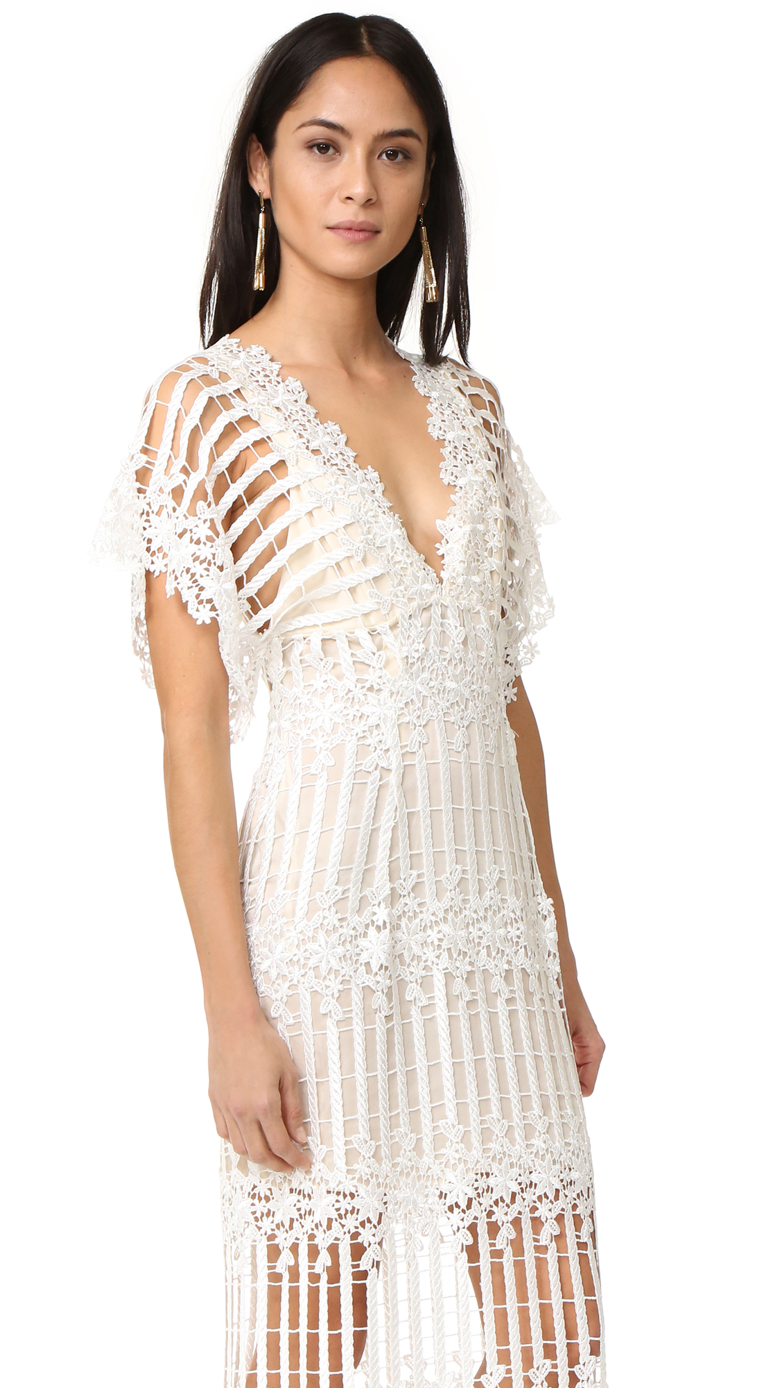 9481af2830 Free People Night Whispers Lace Maxi Dress