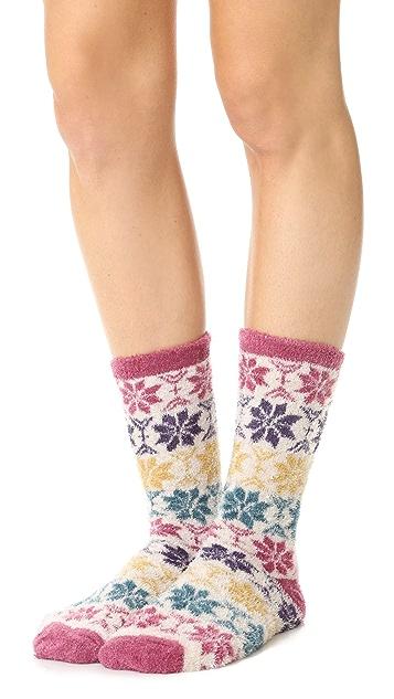 Free People Orian Snowflake Slipper Socks