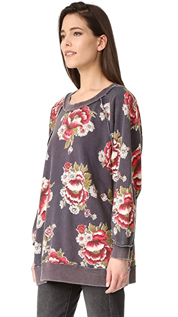 Free People Go On Get Floral Sweatshirt