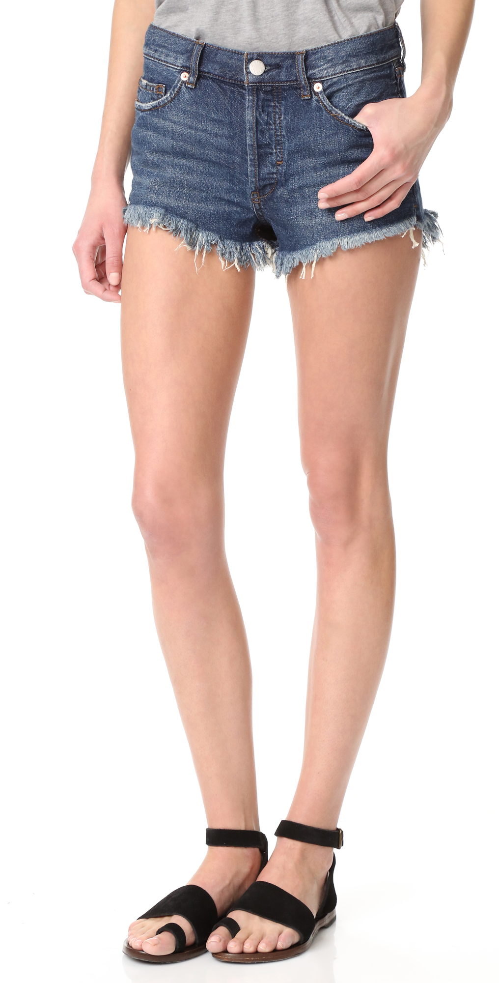Soft  Relaxed Cutoff Shorts Free People