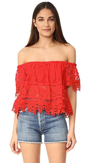 Free People Sweet Dreams Lace Crop Top