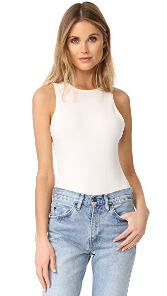 Free People She's A Babe Bodysuit In White