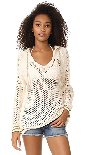 Free People Shadow Stripe Mesh Hoodie