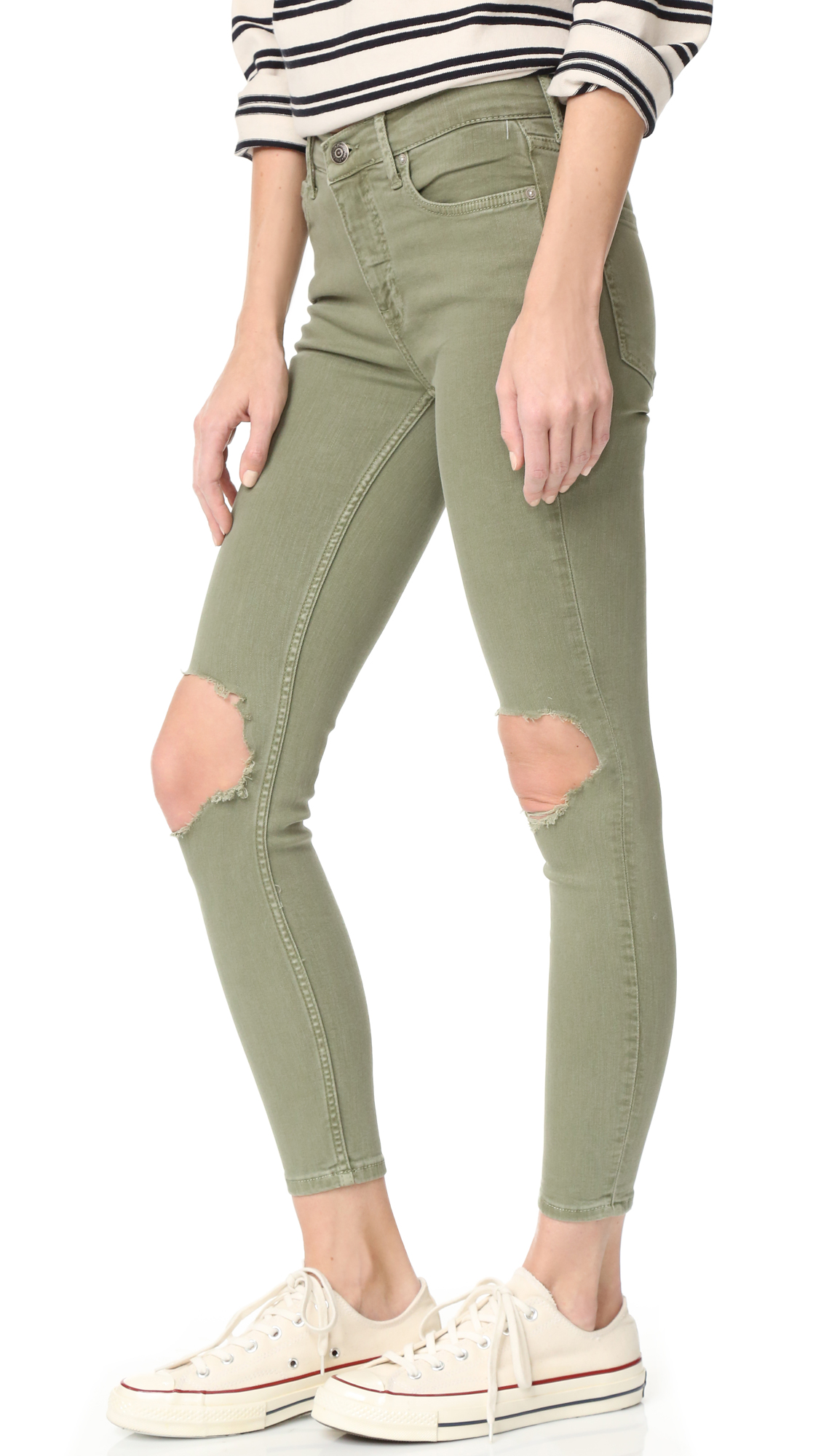 dc283159e Free People High Rise Busted Skinny Jeans | SHOPBOP