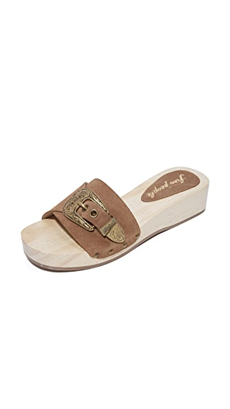 Free People Westtown Slide Clogs - Taupe