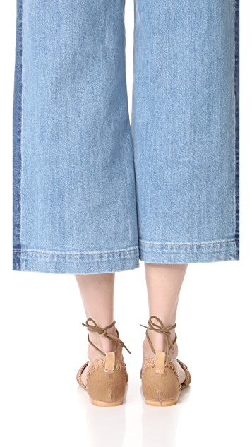 Free People Beaumont Woven Flat Sandals