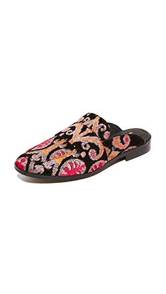Free People At Ease Brocade Loafers - Black Combo