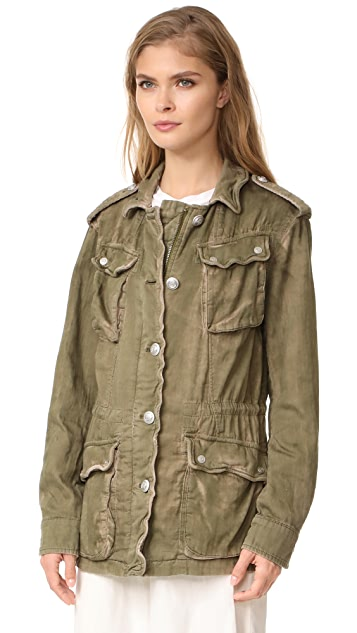 Free People Double Cloth Military Jacket