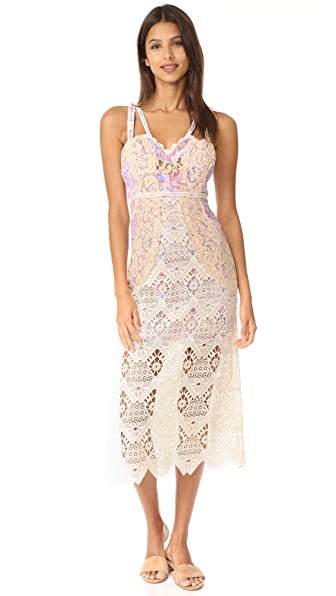 Free People Still Life Midi Dress In Ivory