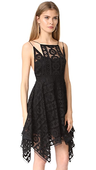 FREE PEOPLE Just Like Honey Lace Dress in Black | ModeSens