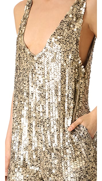 Free People Fools Gold Sequin Romper