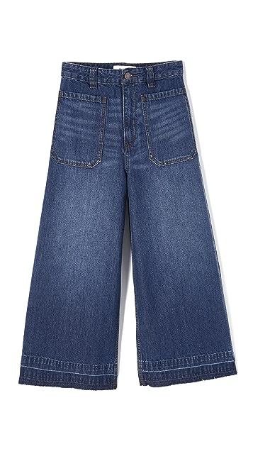 Free People Dawn To Dusk Crop Jeans