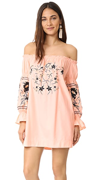 Free People Fleur Du Jour Mini Dress - Pink
