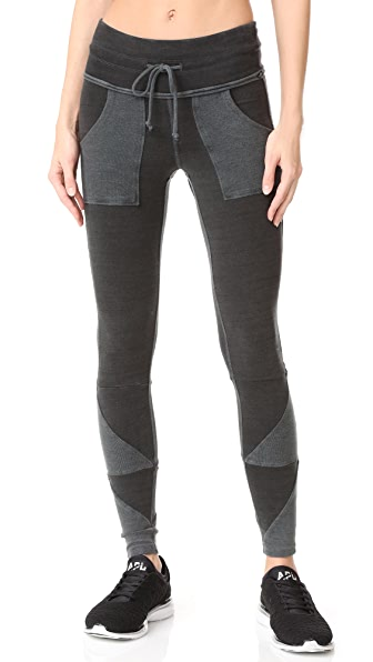 Free People Kyoto Leggings In Washed Black