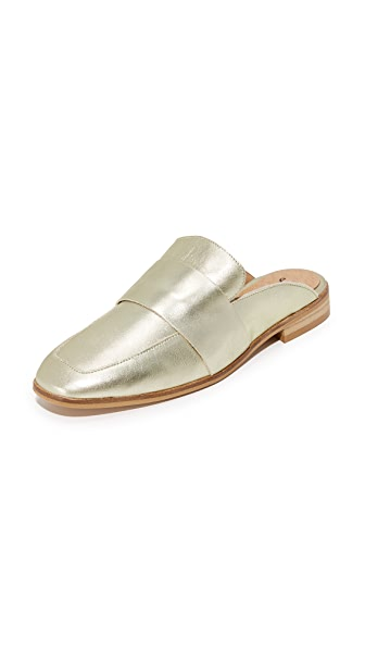 Free People At Ease Loafers In Gold