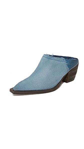 Free People Wild Things Mules - Blue