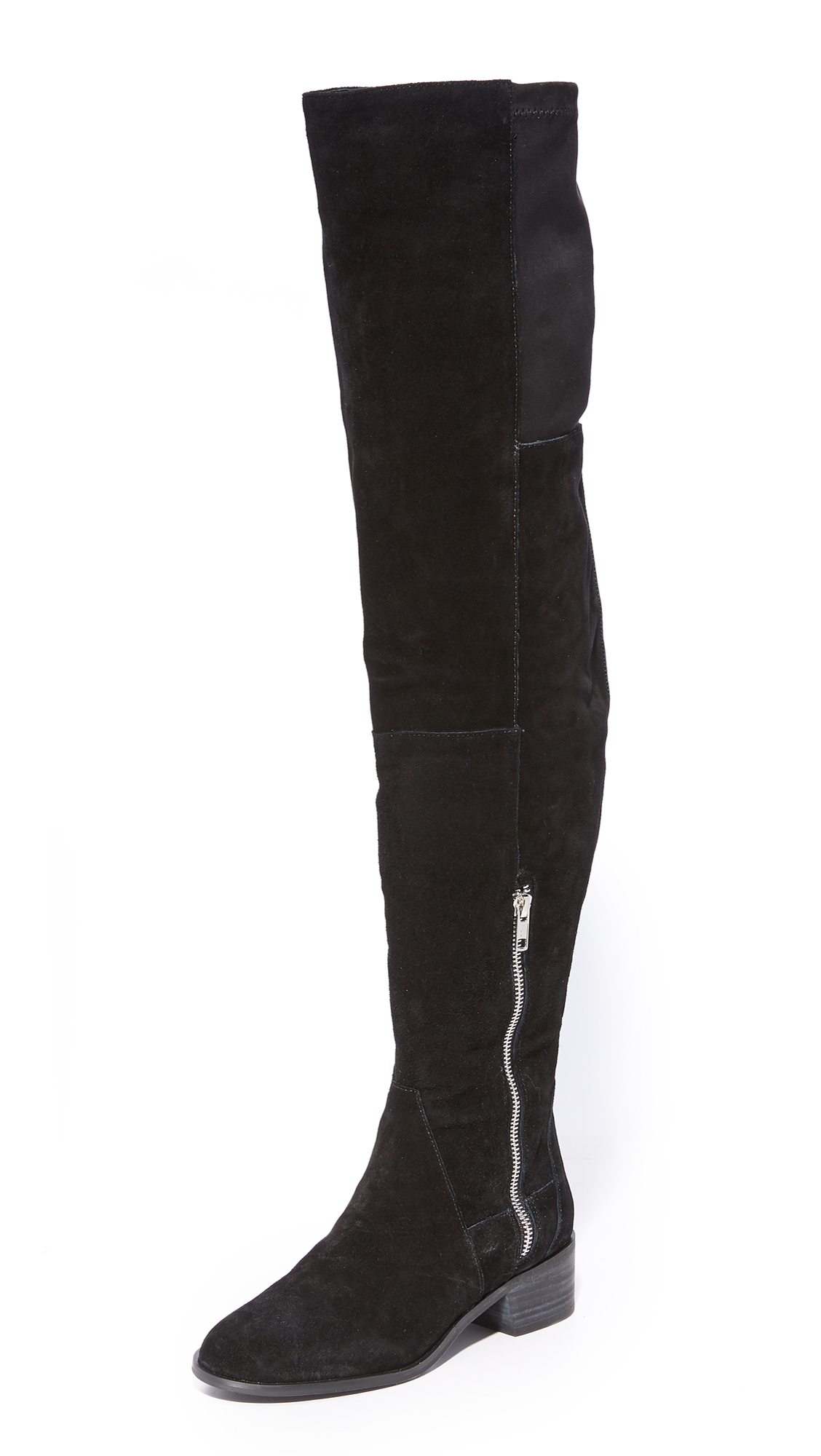 Free People Everyly Over the Knee Boots - Black